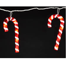 Outdoor Christmas Icicle Lights Sale by Set Of 7 Outdoor Red And White Candy Cane Icicle Christmas Lights