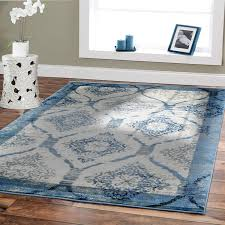 amazon com contemporary rugs for living room 5x8 blue area rug