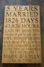 wedding anniversary plaques 5th wedding anniversary plaques makemesomethingspecial