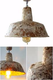 industrial style recycled paper lamp id lights