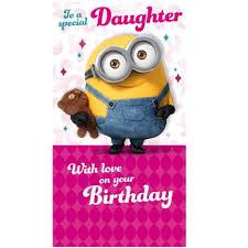 special daughter minions birthday card disney u0026 mr men