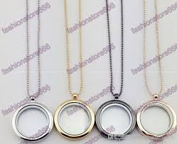 locket necklace with charms images Wholesale hot 30mm floating locket necklaces with chain diy jpg
