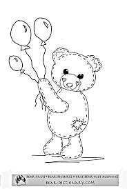 free teddy bear coloring pages toby u0027s teddy bear coloring page