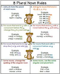 free plural noun rules poster secondgradesquad com pinterest