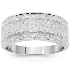 weddings 10k 10k white solid gold mens diamond wedding band 0 38 ctw i would