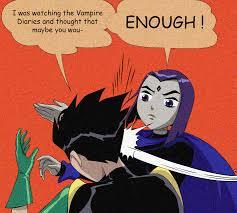 Batman And Robin Slap Meme - raven slapping robin my parents are dead batman slapping robin