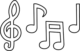 black and white music clipart clipartxtras