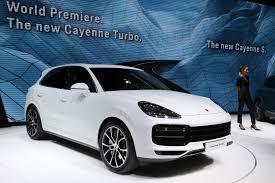 New Porsche Cayenne - new porsche cayenne turbo arrives in frankfurt with mind blowing