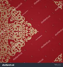 Designs For Invitation Card Vintage Invitation Card Swirls Floral Motifs Stock Vector