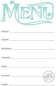 best 25 printable menu ideas on pinterest menu planner