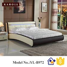 Maharaja LED Bedroom Set Furniture White Luxury LED Faux Leather - White faux leather bedroom furniture