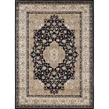 Rugs In Home Depot Home Dynamix Bazaar Trim Black Ivory 7 Ft 10 In X 10 Ft 1 In