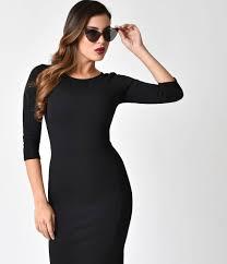 sleeved black dress unique vintage 1960s style black sleeve mod wiggle dress
