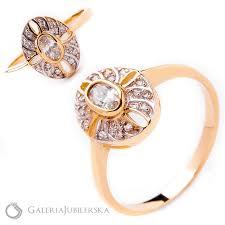 pierscionek zareczynowy pierścionek zaręczynowy na prezent vintage galeriajubilerska pl