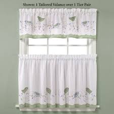 Pictures Of Kitchen Curtains by Morning Song Bird Tier Window Treatment
