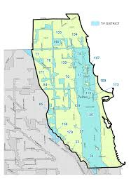Chicago Transit Authority Map by City Of Chicago North Side Tif District Map