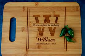 engraved wedding gift personalized engagement gift wooden cutting board engraved
