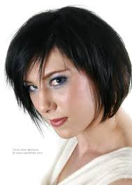 johnbeerens hairstyler short layered bob haircut with jagged edges for black hair