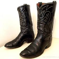 mens boots retail justin style black cowboy boots ready to wear