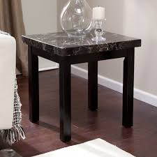 Black Living Room Tables Modern Galassia End Table Sleek Contemporary Design With Sharp