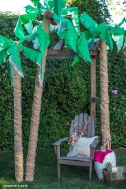diy palm tree decor palm tree decorations luau and tree