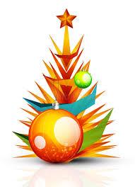 merry christmas modern merry christmas tree modern abstract geometric stock vector