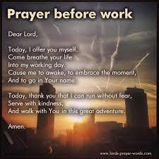 prayer before work employment