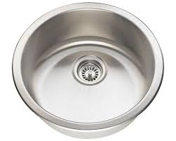 465 circular stainless steel bar sink