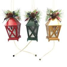nicholas square light up lantern ornaments 3 set