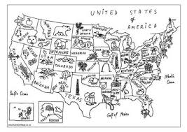 color printable map of us
