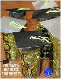graduation cap centerpieces hoopla palooza graduation glass hat centerpieces