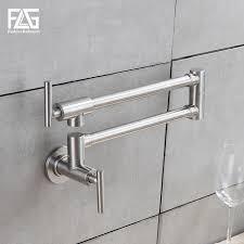 wall mount single handle kitchen faucet flg kitchen faucet wall mounted single handle 304 stainless