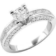 inel logodna aur alb inel de logodna din aur alb 18 kt cu diamante hpd174w