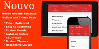 nouvo mobile website template pack html mobile templates