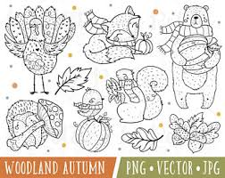 fall digital stamps etsy