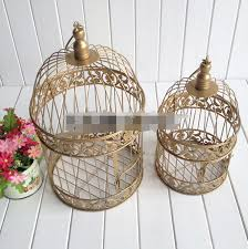 Bird Cage Decoration Aliexpress Com Buy Gold Bird Cage Decoration Hand Made