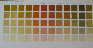pat fiorello art elevates life color charts 4 yellow ochre pale