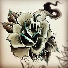 candle rose tattoo design best tattoo designs