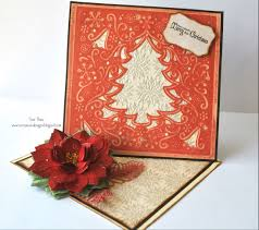 crafters companion embossalicious perfect poinsettia create a card