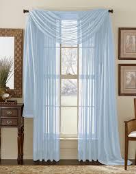 Blue Sheer Curtain Light Blue Sheer Panel Moshells