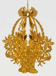 danbury mint 1987 gold ornament collection at