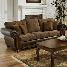 Leather With Fabric Sofas Half Leather Fabric Sofa Set Www Energywarden Net