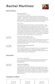 Educator Resume Example by Assistant Teacher Resume Samples Visualcv Resume Samples Database