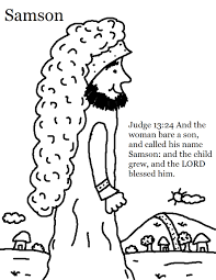 samson coloring page 8835