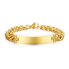 Name Bracelets Gold Online Shop Men Women Monogram Bracelet Stainless Steel Name