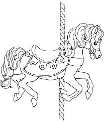extraordinary idea carousel horse coloring page carousel horse