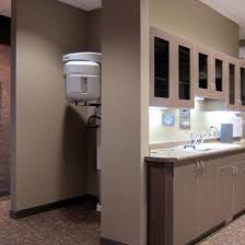 oreception area beverage station our new dental office located