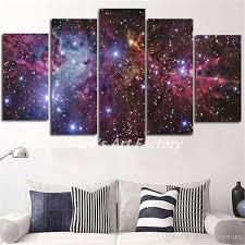 Prints For Home Decor 2017 Abstract Purple Galaxy Space Painting Calligraphy Art Picture
