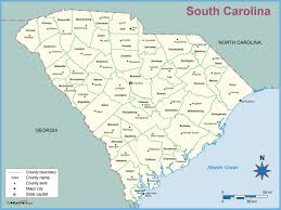 South Carolina County Map South Carolina County Outline Wall Map Maps Com