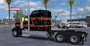 big kenworth trucks kenworth w900 big black skin mod american truck simulator mod